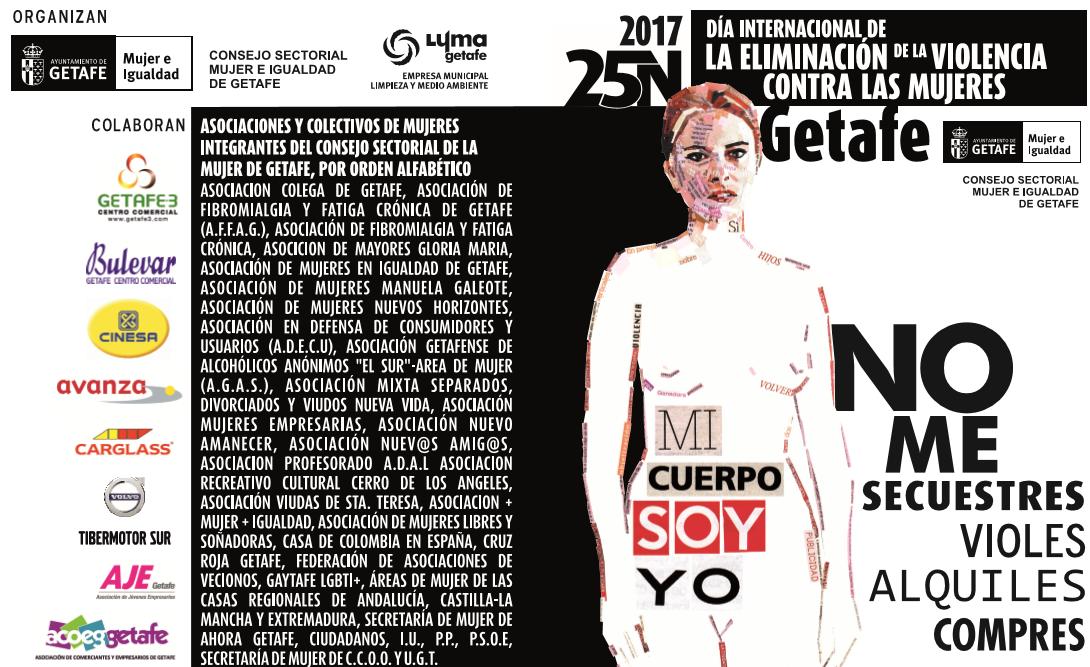 EL AYUNTAMIENTO DE GETAFE DESPLIEGA UNA CAMPAÑA PARA DENUNCIAR LA VIOLENCIA HACIA LAS MUJERES, BAJO EL LEMA 'MI CUERPO SOY YO'